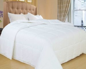 Natural Comfort White Down Alternative Comforter with Embossed Microfiber Shell