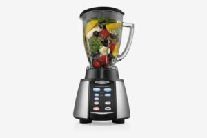 Oster Reverse Crush Counterforms Mixer, with 6-Cup Glass Jar
