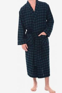 Alexander Del Rossa Men's Flannel Plaid Robe