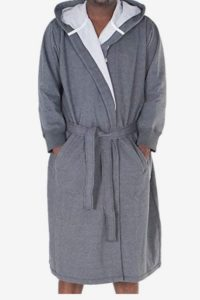 Alexander Del Rossa Men's Sweatshirt Style Hooded Bathrobe