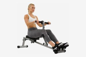 Sunny Health & Fitness SF-RW1205 12 Adjustable Resistance Rowing Machine Rower With Digital Monitor