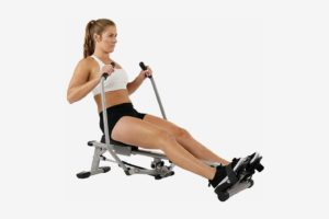 Sunny Health & Fitness SF-RW5639 Full Motion Rowing Machine Rower With 350-lb. Weight Capacity and LCD Monitor
