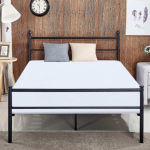 VECELO Reinforced Metal Bed Frame, Queen-Size